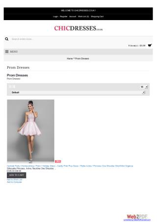 Uk Prom Dresses Online Shop