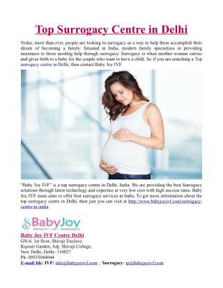 Top Surrogacy Centre in Delhi