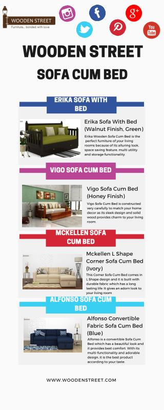 Buy Sofa with Bed Online in India@ Wooden Street