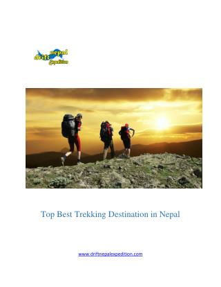 Top best trekking destination and holiday in Nepal