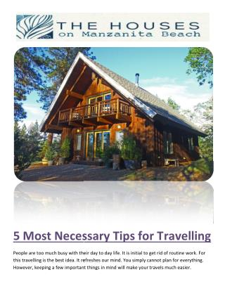 5 MOST NECESSARY TIPS FOR TRAVELLING