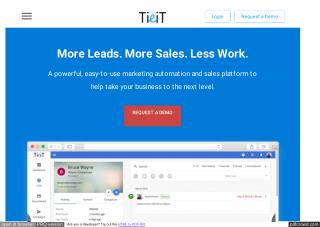 Marketing automation software, sales automation software - TieitApp