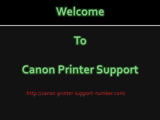 Canon Printer Support