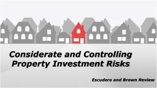 Considerate and Controlling Property Investment Risks - Escudero and Brown Review