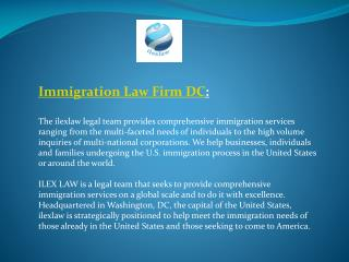 Immigration Law Firm DC