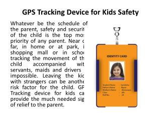 GPS Tracking Device for Kids Safety