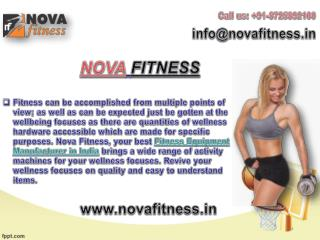 Nova Fitness Offers Its Fitness Equipment Wholesaler Range