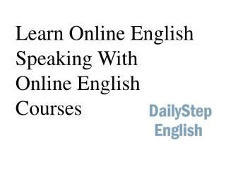 Learn Online English Speaking With Online English Courses