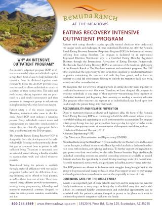 EATING RECOVERY INTENSIVE OUTPATIENT PROGRAM at Arizona
