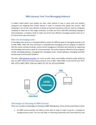 SMS Gateway Tool : Text Messaging Software