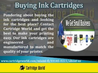 Buying Ink Cartridges
