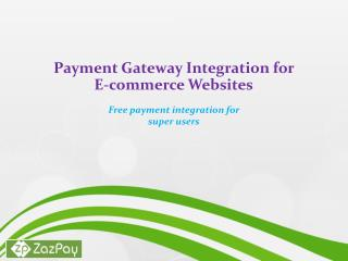 Payment Gateway Integration for E-commerce Websites