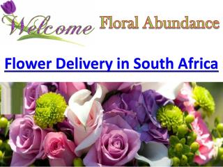 Find online delivery of flower in South Africa