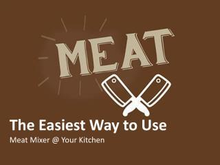 Meat Mixer | ProProcessor.com