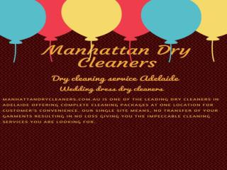 Manhattandrycleaners is your specialized wedding dresses cleaning
