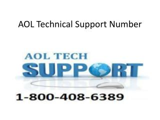 AOL Technical Support Phone Number 1-800-408-6389