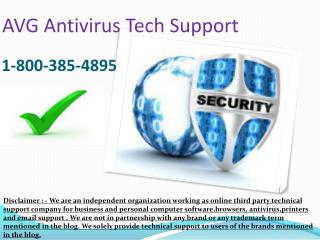 1-8OO-385.4895 AVG Antivirus Issue Tech Support Phone Number