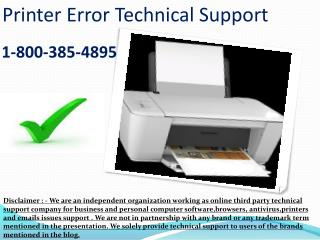 1-8OO-385-4895 HP Printer Tech Support Number