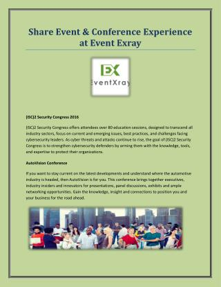 Share Event & Conference Experience at Event Exray