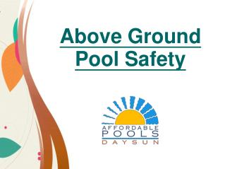 Above Ground Pool Safety