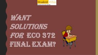 ECO 372 Final Exam : ECO 372 week 5 final exam | Studentwhiz