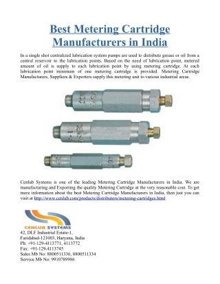 Best Metering Cartridge Manufacturers in India