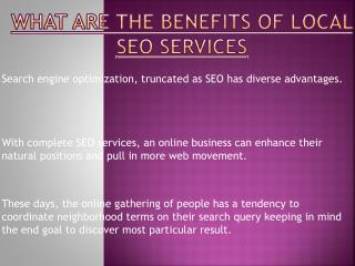 Benefits of Local SEO Services
