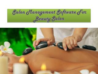 Salon Management Software For Beauty Salon
