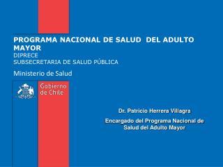 PROGRAMA NACIONAL DE SALUD  DEL ADULTO MAYOR DIPRECE SUBSECRETARIA DE SALUD P BLICA