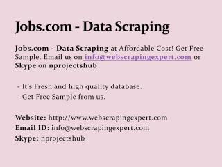Jobs.com - Data Scraping