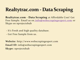 Realtytrac.com - Data Scraping