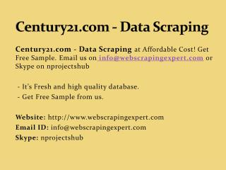 Century21.com - Data Scraping