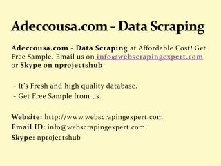 Adeccousa.com - Data Scraping