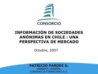 INFORMACI N DE SOCIEDADES AN NIMAS EN CHILE : UNA PERSPECTIVA DE MERCADO