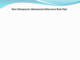 Lower Back Pain Richmond