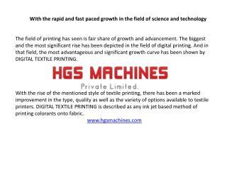 Digital Textile Printing Machine