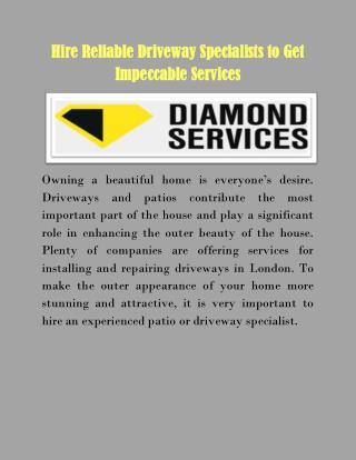 Patio Driveway Specialist London