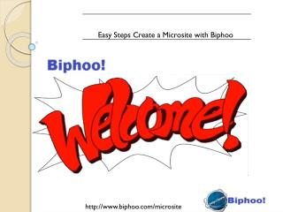 Easy Steps Create a Microsite with Biphoo