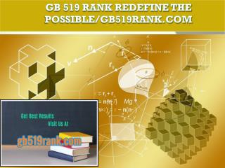 GB 519 RANK Redefine the Possible/gb519rank.com