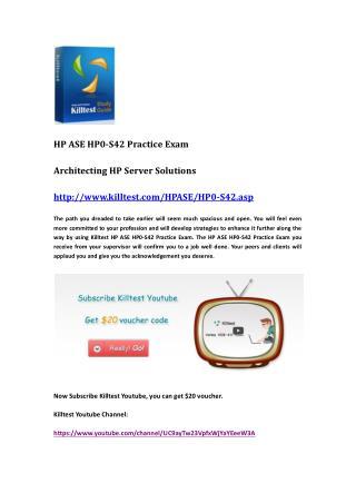 HP HP0-S42 Practice Exam