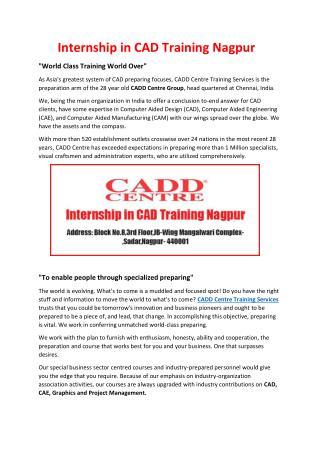 Internship in CAD Training Nagpur