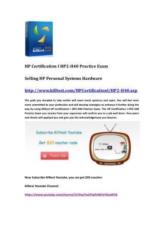 HP HP2-H40 Practice Exam