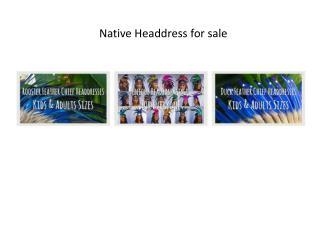 Native Headdress for sale