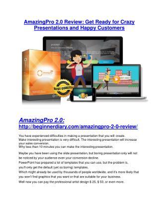 Amazingpro 2.0 review & huge  100 bonus items