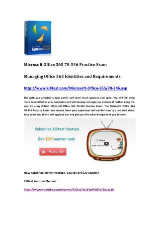 Microsoft 70-346 Practice Exam