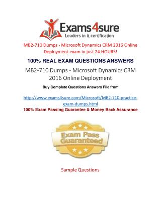 MB2-710 Exam Questions