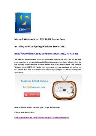 Microsoft 70-410 Practice Exam