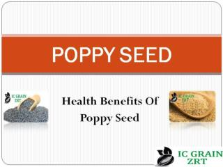 Health Benefits of Blue Poppy Seeds