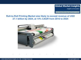 Roll-to-Roll Printing Market size likely to exceed revenue of USD 27.1 billion by 2024