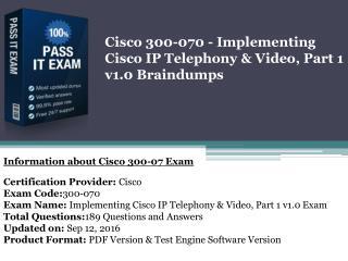 Cisco 300-070 100% correct Answer By Dumpspdf